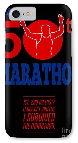 50th Marathon Race Poster  Phone Case by Aloysius Patrimonio