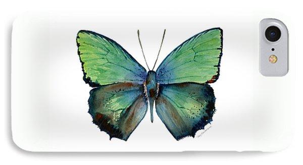 52 Arhopala Aurea Butterfly IPhone Case by Amy Kirkpatrick