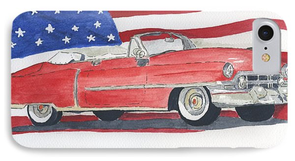 52 Cadillac Convertible IPhone Case by Eva Ason