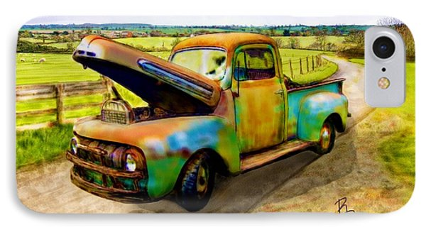 52 Ford F3 Pick-up Truck IPhone Case by Ric Darrell