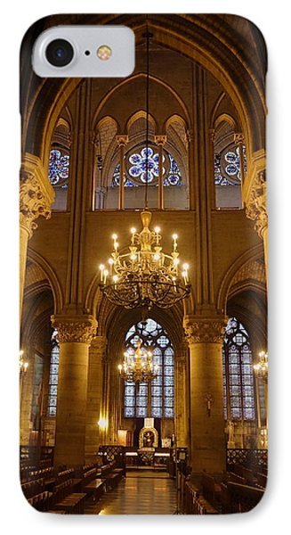 Architectural Artwork Within Notre Dame In Paris France IPhone Case