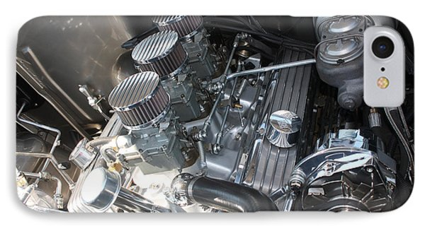 55 Bel Air Engine-8202 Phone Case by Gary Gingrich Galleries