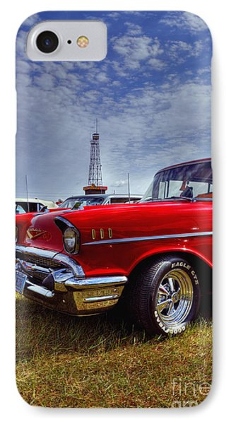 IPhone Case featuring the photograph 57 Chevy Belair by Trey Foerster