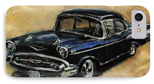 57 Chevy IPhone Case by Carole Foret