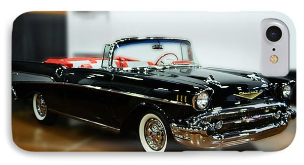 57 Chevy Convertible  IPhone Case by B Wayne Mullins