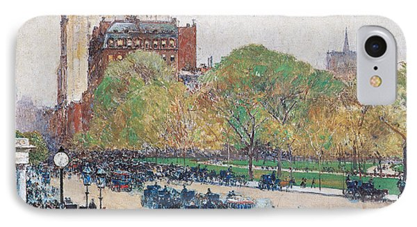 Spring Morning In The Heart Of The City IPhone Case by Childe Hassam