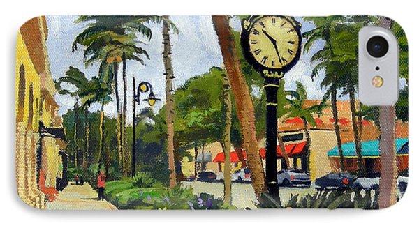 Heron iPhone 7 Case - 5th Avenue Naples Florida by Christine Hopkins