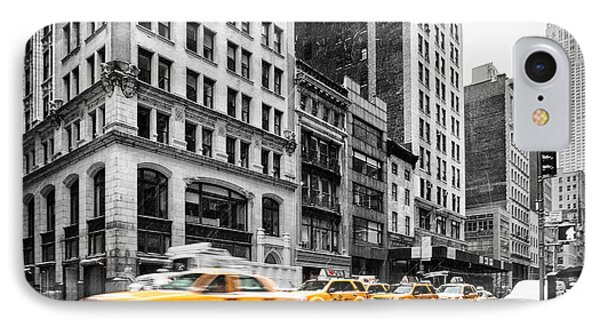 5th Avenue Yellow Cab Phone Case by John Farnan