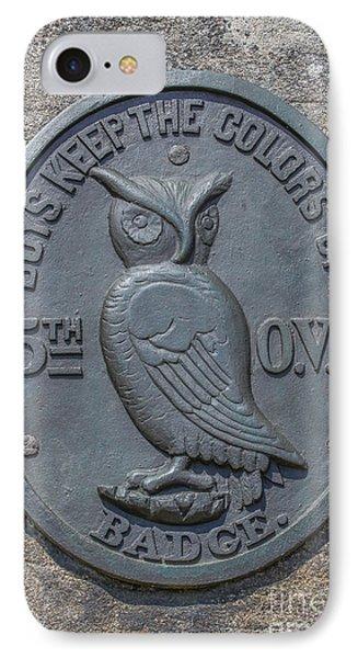 5th Ohio Owl Marker Gettysburg IPhone Case by Randy Steele