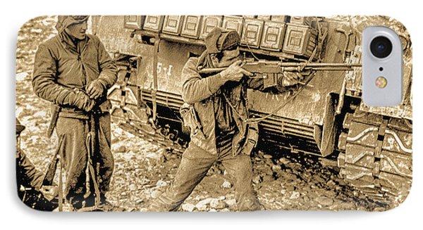 5th Regimental Combat Team 2nd Platoon E Company IPhone Case by Bob and Nadine Johnston