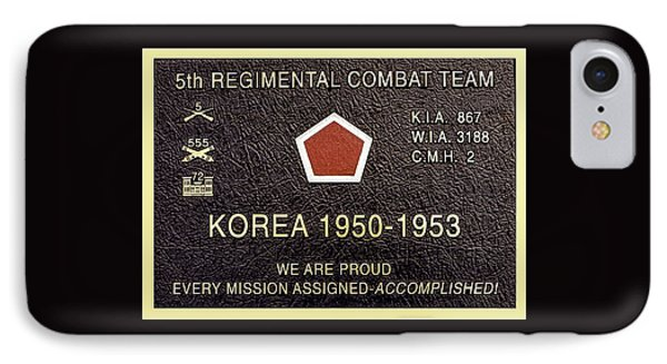 5th Regimental Combat Team Arlington Cemetary Memorial IPhone Case by Bob and Nadine Johnston