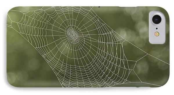 IPhone Case featuring the photograph  Spiderweb by Odon Czintos
