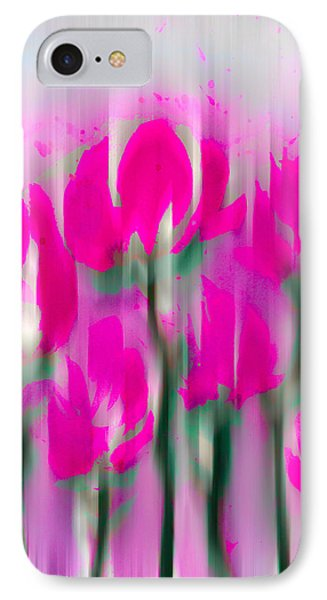 IPhone Case featuring the digital art 6 1/2 Flowers by Frank Bright