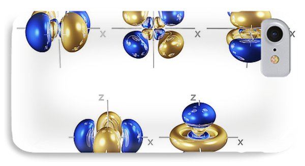 4d Electron Orbitals IPhone Case by Dr. Mark J. Winter