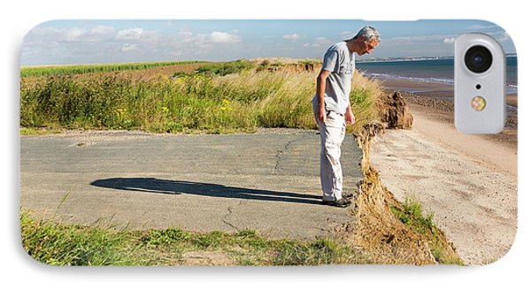 A Collapsed Coastal Road Near Aldbrough IPhone Case