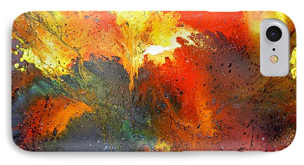 IPhone Case featuring the painting Abstract by Min Zou