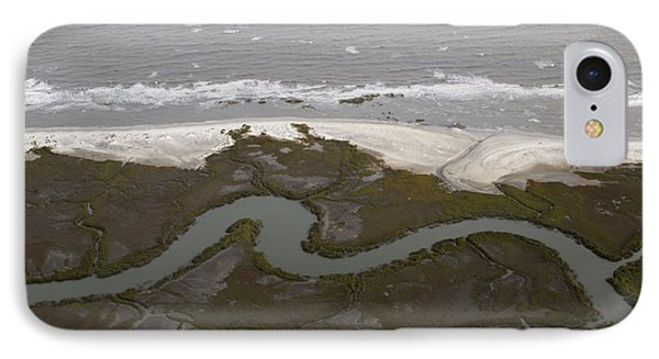 Aerial Near Jekyll Island IPhone Case by Betsy Knapp