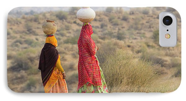 Asia, India, Rajasthan, Manvar, Desert IPhone Case by Emily Wilson