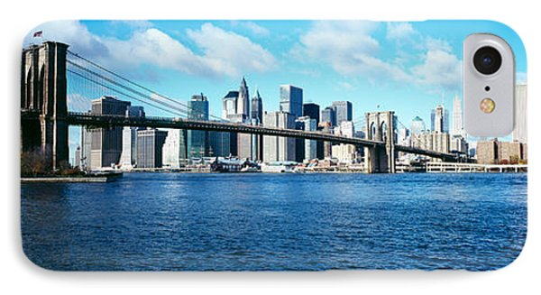 Bridge Across A River, Brooklyn Bridge IPhone Case by Panoramic Images