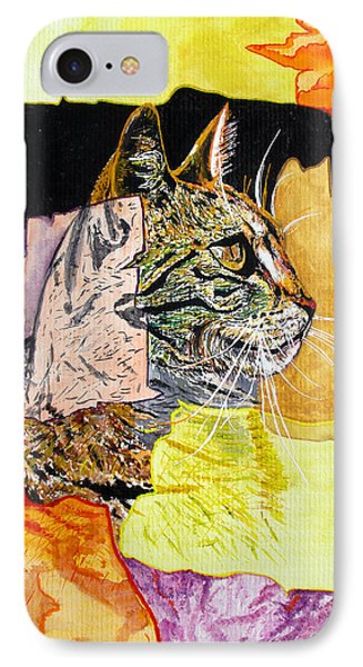 IPhone Case featuring the painting Cat by Daniel Janda