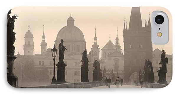 Charles Bridge Prague Czech Republic IPhone Case by Panoramic Images