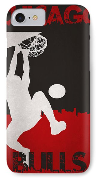 Chicago Bulls IPhone Case by Joe Hamilton