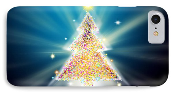 Christmas Tree Phone Case by Atiketta Sangasaeng