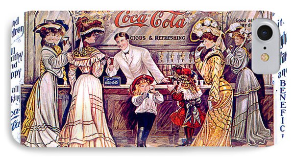 Coca - Cola Vintage Poster IPhone Case by Gianfranco Weiss
