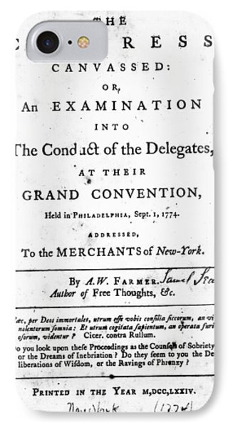 Continental Congress, 1774 Phone Case by Granger