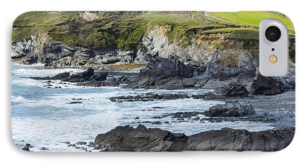 Cornish Seascape Gunwalloe IPhone Case by Brian Roscorla