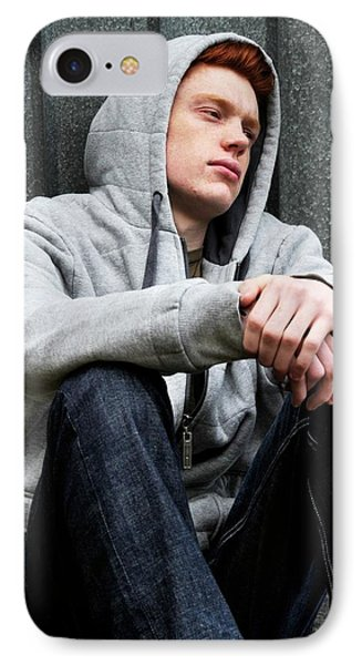 Depressed Teenager IPhone Case