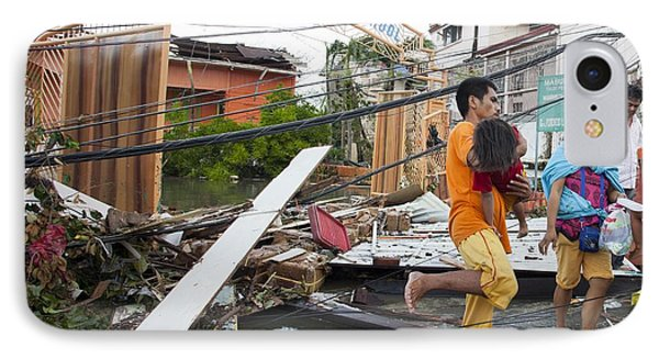 Destruction After Super Typhoon Haiyan IPhone Case