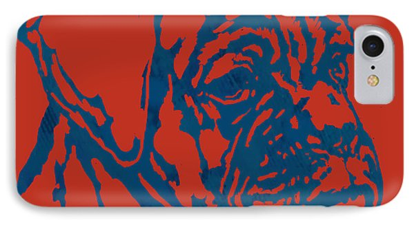 Dog Stylised Pop Modern Etching Art Portrait IPhone Case by Kim Wang
