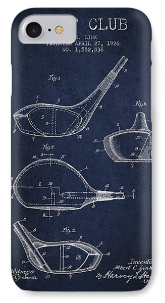 Golf Club Patent Drawing From 1926 IPhone Case by Aged Pixel
