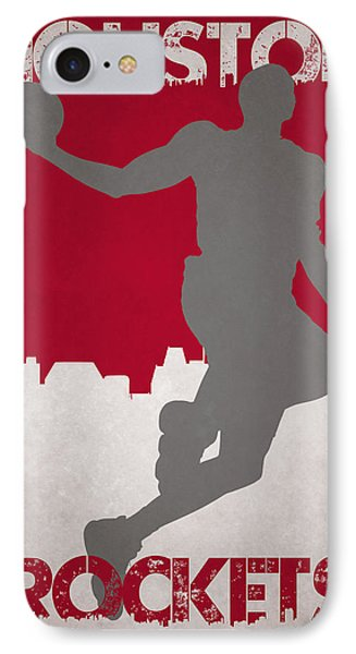 Houston Rockets IPhone Case by Joe Hamilton