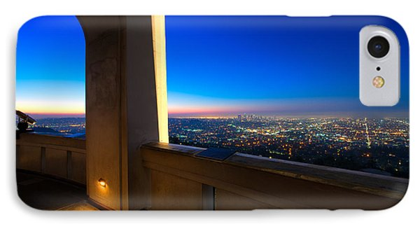 Los Angeles As Seen From The Griffith Observatory IPhone Case by Celso Diniz