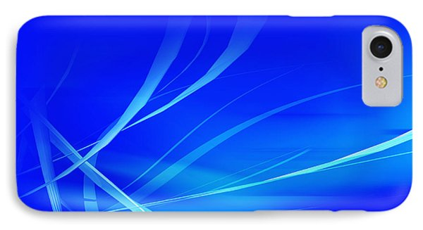 Modern Blue Abstract IPhone Case by Modern Art Prints