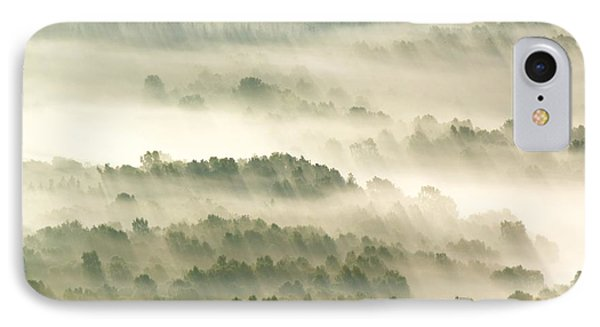 Morning Mist Over Farmland IPhone Case