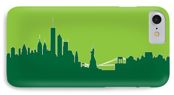 New York Skyline Phone Case by Michael Tompsett