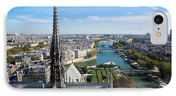 Paris Panorama France Phone Case by Michal Bednarek