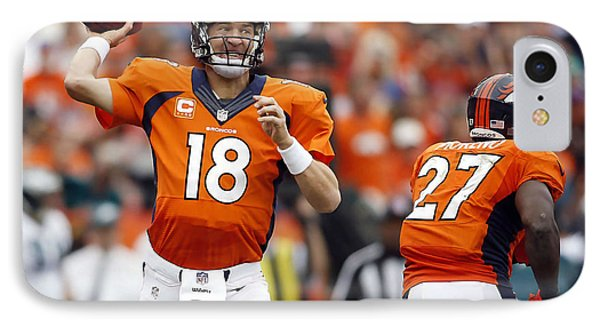 Peyton Manning  IPhone Case by Marvin Blaine