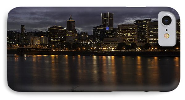 Portland Waterfront IPhone Case by Jean-Jacques Thebault
