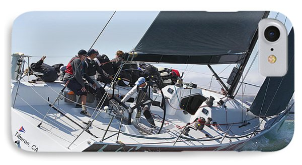 Upwind On The Bay IPhone Case by Steven Lapkin