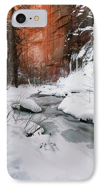 16x20 Canvas - West Fork Snow IPhone Case by Tam Ryan