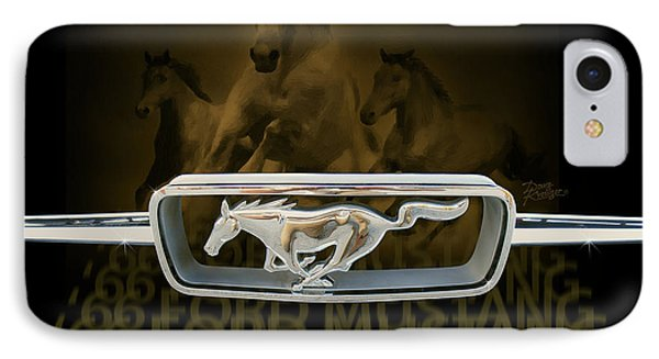 IPhone Case featuring the digital art '66 Ford Mustang by Doug Kreuger