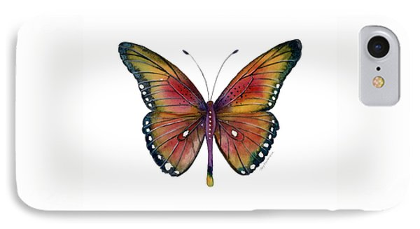 66 Spotted Wing Butterfly IPhone Case by Amy Kirkpatrick