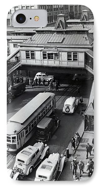 6th Avenue And 42nd Street IPhone Case by Underwood Archives
