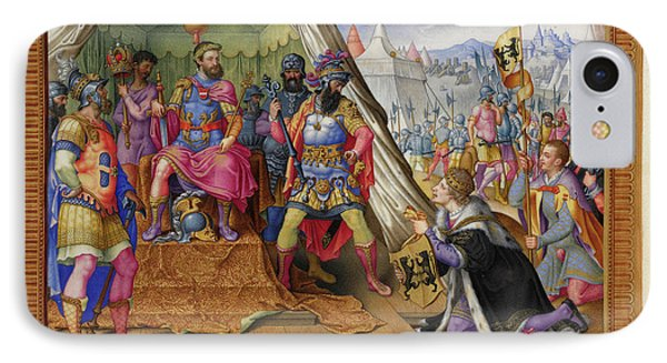 A Victory Of Emperor Charles V Of Spain IPhone Case by British Library