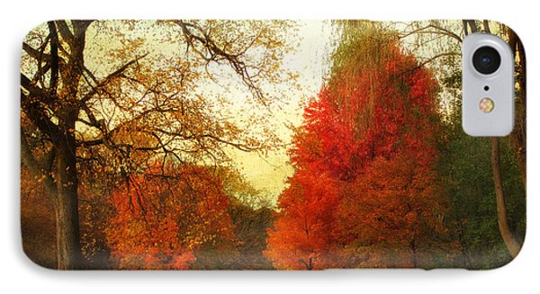 Autumn Promenade IPhone Case by Jessica Jenney