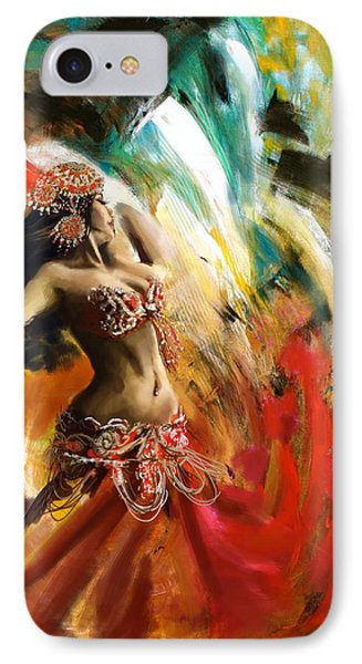 Abstract Belly Dancer 19 IPhone Case by Corporate Art Task Force